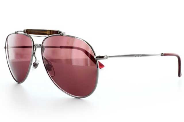 グッチ メタルフレームのサングラス